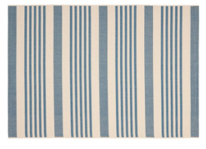 Blue & White Striped Rug