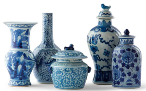 Blue and White Ginger Jar Set