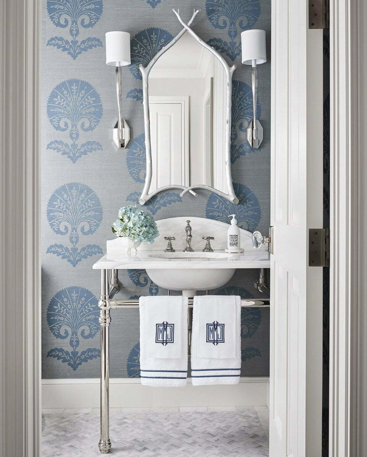 Blue and White Powder Room Inspiration