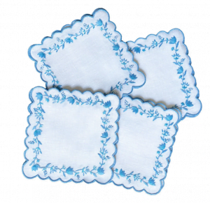 Blue Embroidery Napkins
