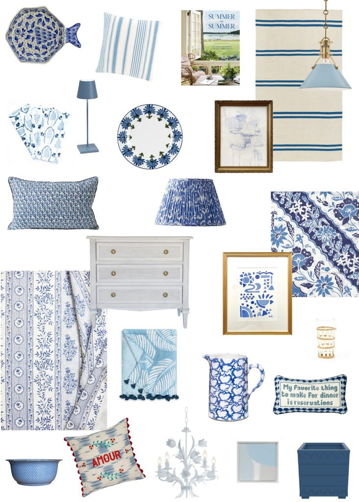 Blue and white favorites