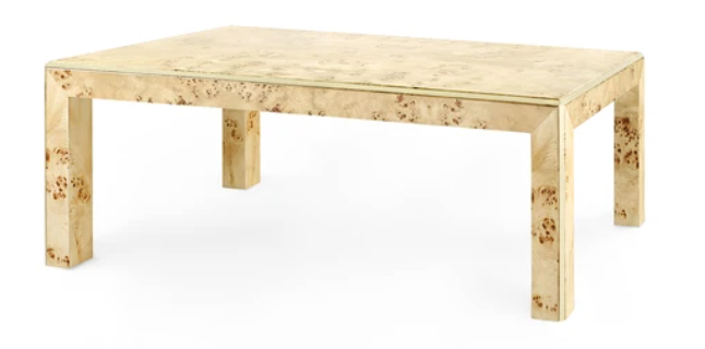 Coffee Table Styling, Coffee table, burled coffee table, Mintwood home